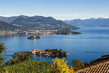 View over Isola Bella, Borromean Islands, Lake Maggiore, Italian Lakes, Piedmont, Italy, Europe
