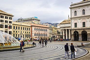 De Ferrari square, Genoa, Liguria, Italy, Europe