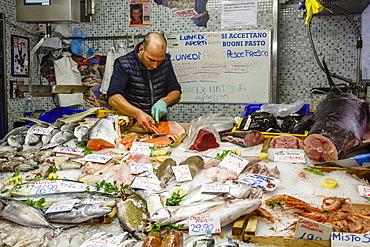 Mercato Orientale (Eastern Market), Genoa, Liguria, Italy.