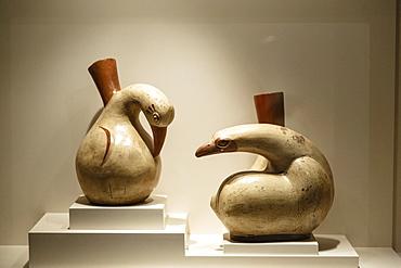 Huari Ceramics at Casa Cabrera (Museum of Pre-Columbian Art), Cuzco, Peru, South America