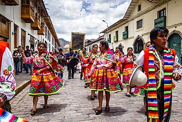A religious procession, Cuzco, Peru, South America