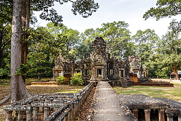 Ruins of the Chau Say Tevoda Temple, Angkor, UNESCO World Heritage Site, Cambodia, Indochina, Southeast Asia, Asia