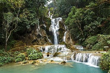 Kuang Si waterfall, Luang Prabang, Laos, Indochina, Southeast Asia, Asia