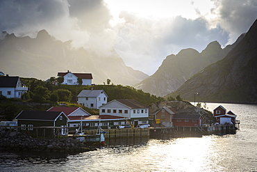 Hamnoy near Reine, Lofoten Islands, Arctic, Norway, Scandinavia, Europe
