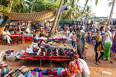 Wednesday Flea Market in Anjuna, Goa, India, Asia