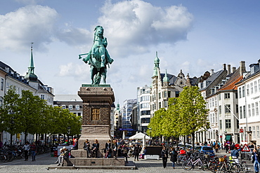View over Hojbro Plads, Copenhagen, Denmark, Scandinavia, Europe