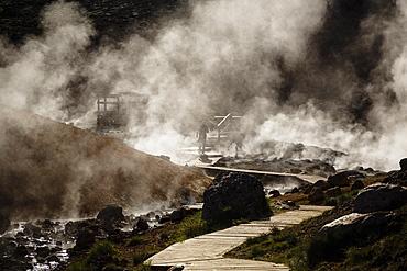 Geothermal fields at Krysuvik, Reykjanes Peninsula, Iceland, Polar Regions