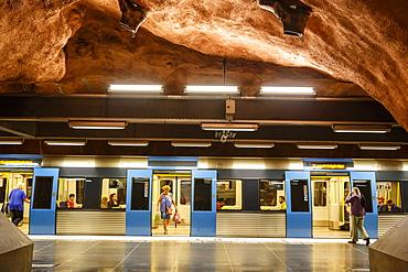 T Bana metro station, Stockholm, Sweden, Scandinavia, Europe