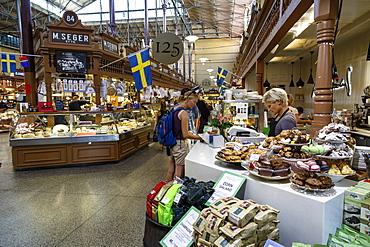 Ostermalmshallen indoors food market, Stockholm, Sweden, Scandinavia, Europe