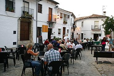Street scene in the village of Grazalema, Parque Natural Sierra de Grazalema, Andalucia, Spain, Europe