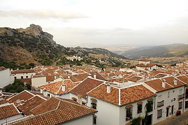 View over Grazalema village at Parque Natural Sierra de Grazalema, Andalucia, Spain, Europe