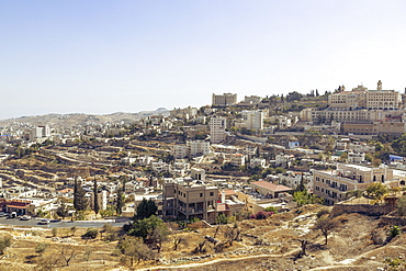 View over Bethlehem and the West Bank, Palestine territories, Israel, Middle East