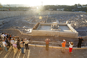 Model of Jerusalem in the late second temple period, Israel Museum, Jerusalem, Israel, Middle East