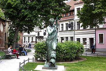Street scene at Nikolaiviertel (Nicholas' Quarter), Berlin, Germany, Europe