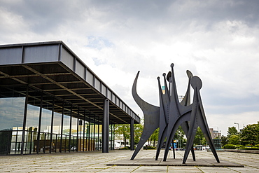 The Neue Nationalgalerie (New National Gallery) at the Kulturforum, Mitte, Berlin, Germany, Europe