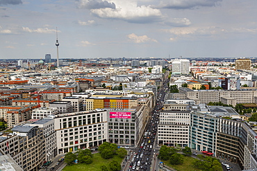 Skyline of Berlin from the Panorama Punkt (Panorama Point), Berlin, Germany, Europe