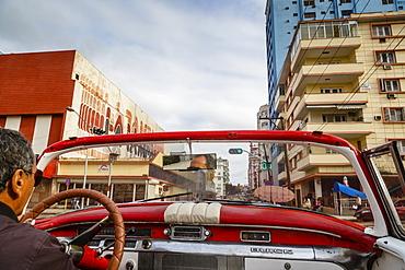 Old American vintage car, Havana, Cuba, West Indies, Caribbean, Central America