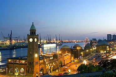 Landungsbrucken, Port of Hamburg, St. Pauli, Hamburg, Germany, Europe