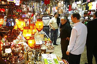 Craft and lanterns shop in the Grand Bazaar, Istanbul, Turkey, Europe
