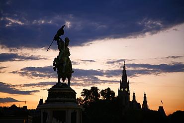 Archduke Karl statue at Heldenplatz, Vienna, Austria, Europe