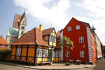 Ribe historic center, Ribe, Jutland, Denmark, Scandinavia, Europe