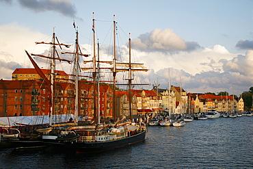 The port of Sonderborg, Jutland, Denmark, Scandinavia, Europe