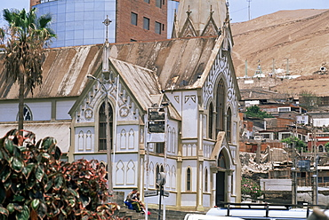 Church in town of Arica, Chile, South America
