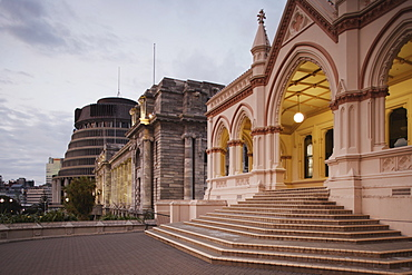 Beehive, Parliament House and Parliamentary Library, Wellington, North Island, New Zealand, Pacific