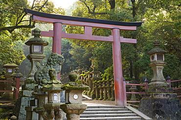 Entrance, Kasuga-Taisha Shrine, UNESCO World Heritage Site, Nara, Kansai (Western Province), Honshu, Japan, Asia