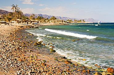 Beach and Gulf of Aqaba, Nuweiba, Sinai, Egypt, North Africa, Africa