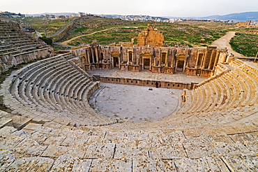 The South Theatre, Jerash, a Roman City of the Decapolis, Jordan, Middle East