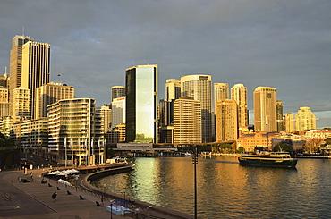 Circular Quay, Sydney Cove and city skyline, Sydney, New South Wales, Australia, Pacific