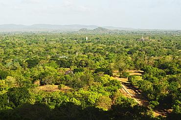 View of plains from Sigiriya (Lion Rock), UNESCO World Heritage Site, Sri Lanka, Asia