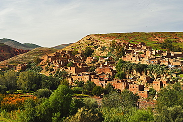 Berber village near Tahnaout, High Atlas, Morocco, North Africa, Africa