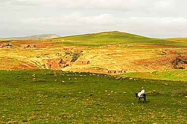 Traditional Berber country near Ait Khaled, High Atlas, Morocco, North Africa, Africa