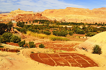 View of Ait-Benhaddou, UNESCO World Heritage Site, Morocco, North Africa, Africa