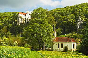 Prunn Castle, near Riedenburg, Altmuehl Valley, Bavaria, Germany, Europe