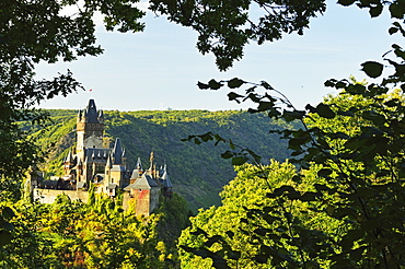 Cochem Imperial Castle (Reichsburg), Rhineland-Palatinate, Germany, Europe
