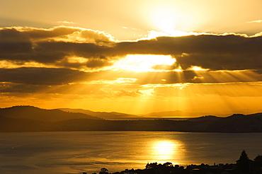 Sunrise, River Derwent, Hobart, Tasmania, Australia, Pacific