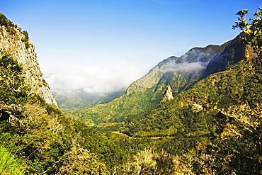 Valle de Hermigua, Parque Nacional de Garajonay, UNESCO World Heritage Site, La Gomera, Canary Islands, Spain, Europe
