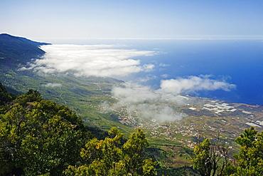 Las Puntas and El Golfo Bay, seen from Tibataje, El Hierro, Canary Islands, Spain, Atlantic, Europe