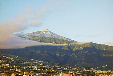 Pico del Teide and Orotava Valley, Tenerife, Canary Islands, Spain, Atlantic, Europe