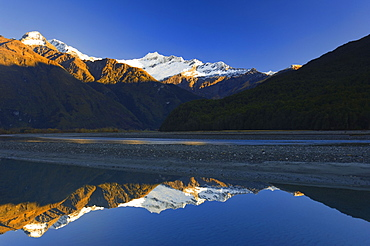 Mount Aspiring and Matukituki River, Mount Aspiring National Park, Wanaka, Central Otago, South Island, New Zealand, Pacific