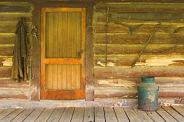 Door, historic Tom Groggin Station, Kosciuszko National Park, New South Wales, Australia, Pacific