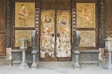 Doorway, Cheng Kan Village, Anhui Province, China, Asia