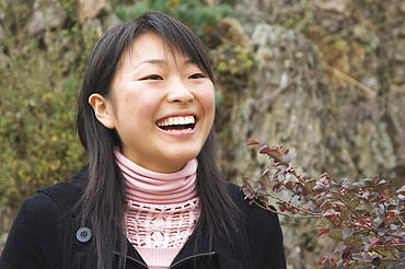 Portrait of young Chinese woman, Huangshan City (Tunxi), Anhui Province, China, Asia