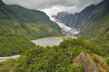 Franz Josef Glacier, Westland, UNESCO World Heritage Site, South Island, New Zealand, Pacific