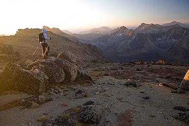 Hiker, Cathedral Provincial Park, British Columbia, Canada, North America