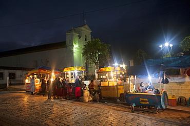 Street food vendors, Nebaj, Guatemala, Central America