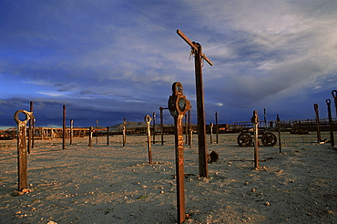 Train graveyard, Uyuni, Bolivia, South America